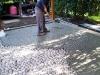 pavimenti in ciottoli:stuccatura,