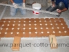 pavimenti in cotto: posa tappeto centrale