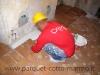 pavimenti in cotto: posa fascia perimetrale
