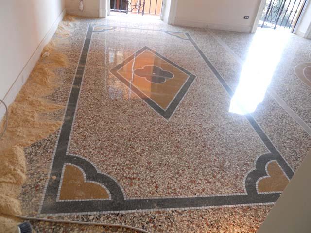 Terrazzo alla veneziana decori pavimenti a roma - Decori per pavimenti ...