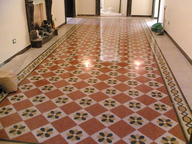 Pavimenti in graniglie o marmette pavimenti a roma - Camera da letto pavimento cotto ...