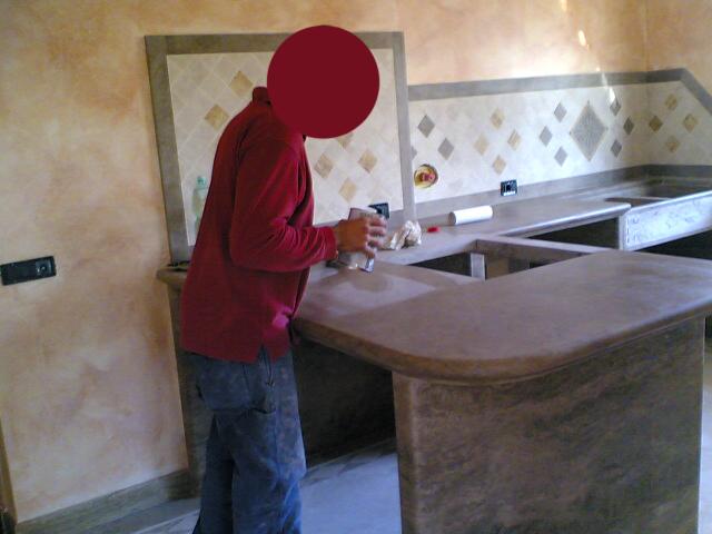 Lucidatura piani bagno e cucina pavimenti a roma - Piani cucina marmo ...