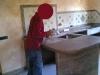 Lucidatura piano bagno e piano cucina: fase di ceratura
