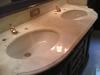 Lucidatura piano bagno e piano cucina: piano del lavabo
