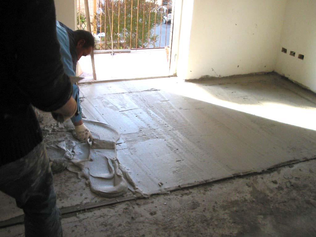 Massetti in cemento per interno pavimenti a roma - Posa piastrelle su pavimento radiante ...