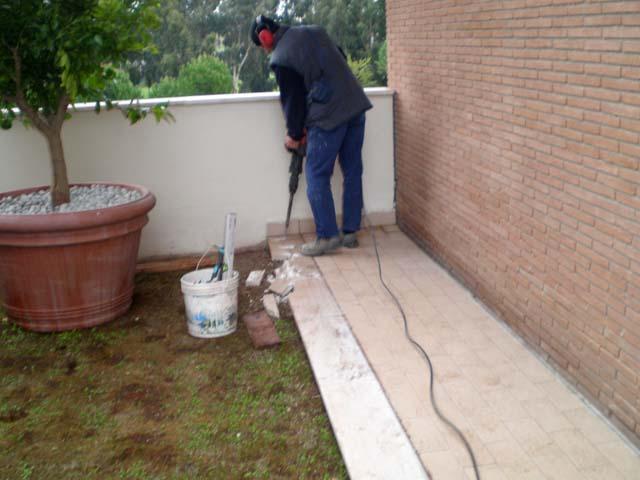Massetto per esterno pavimenti a roma - Stuccare piastrelle bagno ...