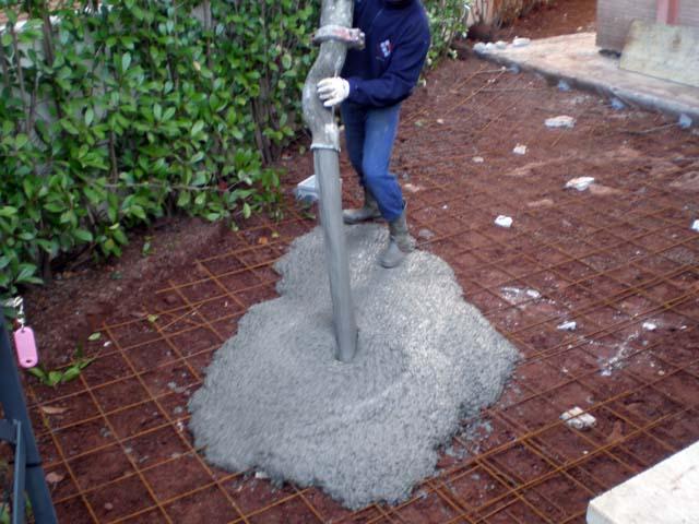 Massetto in cemento per esterno