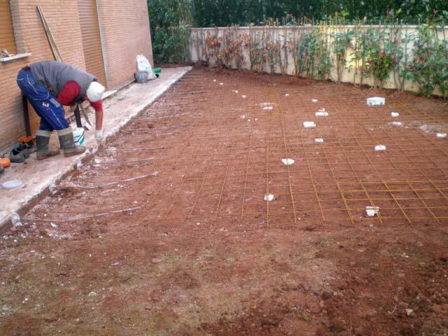 Massetto per esterno pavimenti a roma for Piani sud ovest della casa con cortile