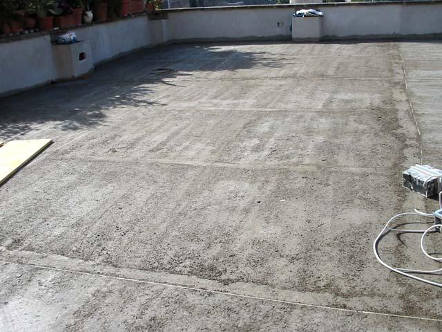 Massetto per esterno pavimenti a roma - Pavimento terrazzo esterno ...