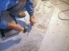 Terrazzo veneziano: asportazione manuale parti rovinate