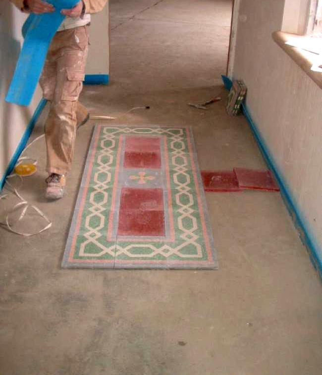 Pavimenti in graniglie o marmette pavimenti a roma - Incollare piastrelle su pavimento esistente ...