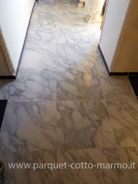 Pavimenti a roma - Piastrelle gres porcellanato effetto marmo ...
