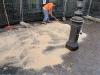 pavimenti in porfido: pulizia e asciugatura con segatura