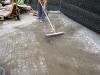 pavimenti in porfido:stuccatura con  sabbia e cemento a secco