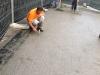 pavimenti in porfido: controllo manuale della planarita\'