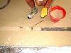 Pavimento alla veneziana: realizzazione fascia decoro in rosa