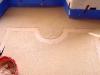 Pavimenti alla veneziana: battitura fascia decoro in rosa