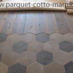 pavimento cementine liberty - inserto parquet antico