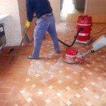 trattamento pavimento in cotto-lavaggio