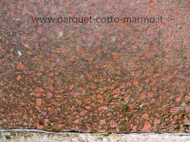 pavimenti in cocciopesto o battuto;particolare