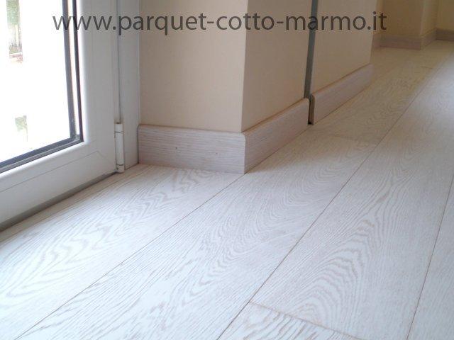 Parquet bianco prefinito - Pavimenti a Roma