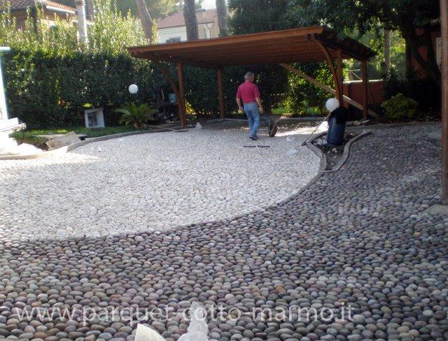 Pavimenti per esterni pavimenti a roma - Pavimento in ciottoli esterno ...