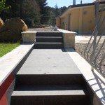 pavimento per esterno:pietra di modica con basalto