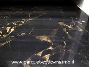 pavimento gres porcellanato lucido effetto marmo porto oro