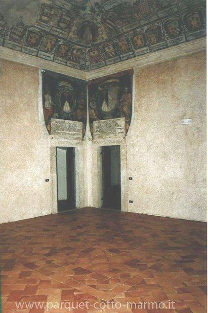 Trattamento cotto fatto a mano; Castello Savelli