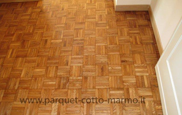 pavimento in legno - mosaico