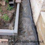 pavimenti in porfido - ciglio in peperino- guaina