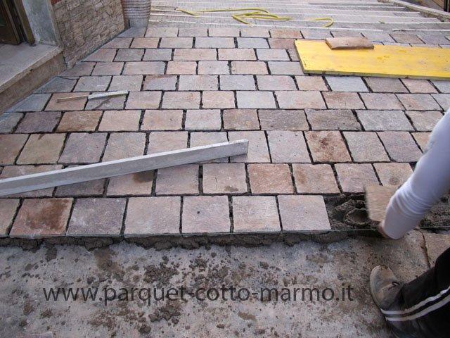 Pavimento esterno in porfido pavimenti a roma - Pavimento da esterno carrabile ...
