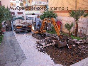 pavimenti in porfido - smantellamento