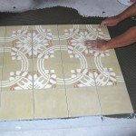pavimento in cementine nuove decorate-posa