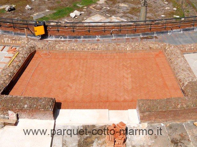 Pavimenti per esterno mercati di traiano pavimenti a roma - Pavimento in cotto per esterno ...