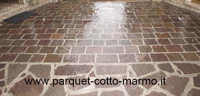 Come pulire il porfido pavimenti a roma - Ravvivare cotto esterno ...