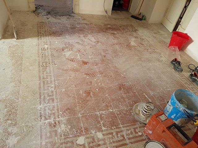 Pavimento in graniglie antiche