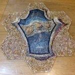 stemma mosaico con il fondo